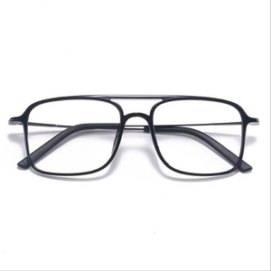 Image 1 - Super Light Square ULTEM Eyeglasses Double Beam Glasses Frame Men and Women Models Tide Big Face Comfortable 7g