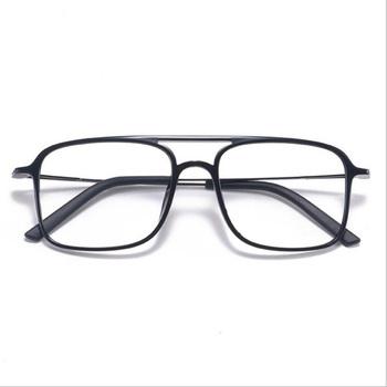 Super lekki kwadratowy ULTEM okulary podwójna wiązka okulary rama mężczyźni i kobiety modele fala duża twarz wygodne 7g tanie i dobre opinie HOTOCHKI Unisex ULTEM (PEI) Stałe 2235 Optical Glasses Frame FRAMES Okulary akcesoria No Extra Charge PD is Required for Glasses Assembly