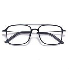 슈퍼 라이트 스퀘어 ULTEM 안경 더블 빔 안경 프레임 남성과 여성 모델 조수 큰 얼굴 편안한 7g