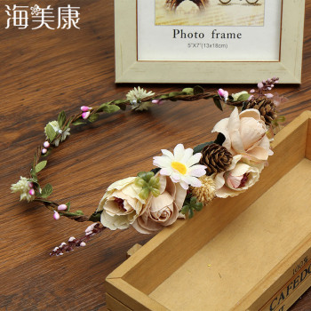 New Fashion Headbands Flower Wreath Crown For Girls Hair Accessories