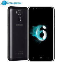 DOOGEE Y6 mobile phones 5.5Inch HD 2GB+16GB Fingerprint  Android6.0 Dual SIM MTK6750 Qcta Core 13.0MP 3200mAH WCDMA LTE GSM GPS