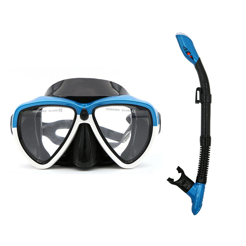 Underwater HD Silicone View Diving Mask Anti-Fog Goggles Glasses Breath Tube