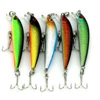 5pcs Mini FIshing Lure Laser Paint Lures Swimbait Wobbler Minnow Hard Bait Plastic Fishing Lures
