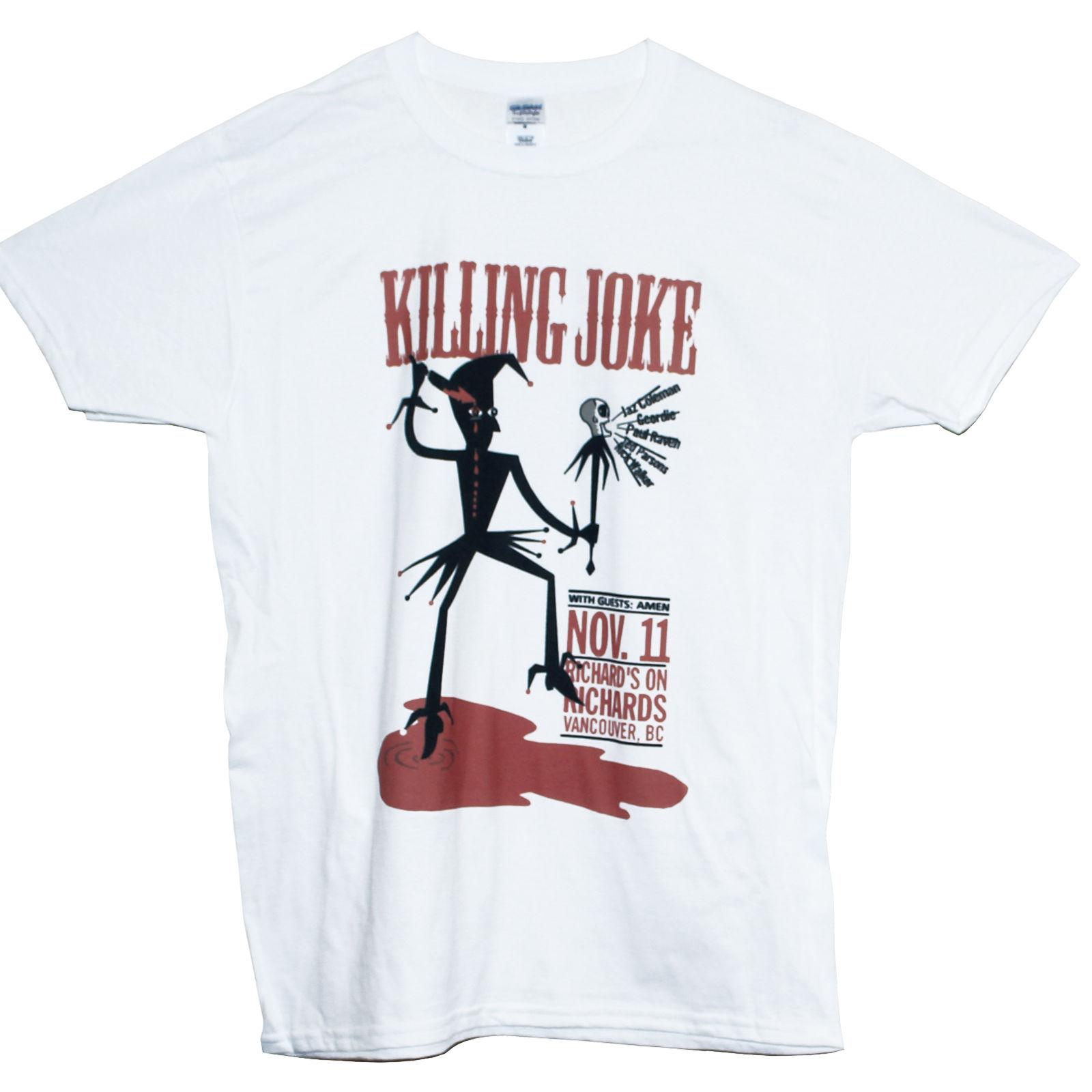 KILLING JOKE T SHIRT Bauhaus Soundgarden Industrial Rock Goth Metal Band Tee