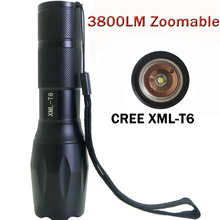 3800lumens Tactical Flashlight 17 CREE XM-L T6 cree led Torch luzes torch zaklamp taschenlampe torcia Zoomable  Flashlight ZK93