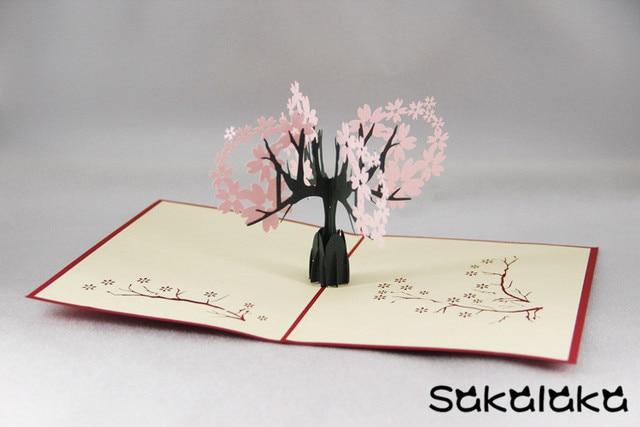 Creative 3d handmade oriental cherry greeting card gift fancy paper creative 3d handmade oriental cherry greeting card gift fancy paper cut carved sakura greeting cards m4hsunfo