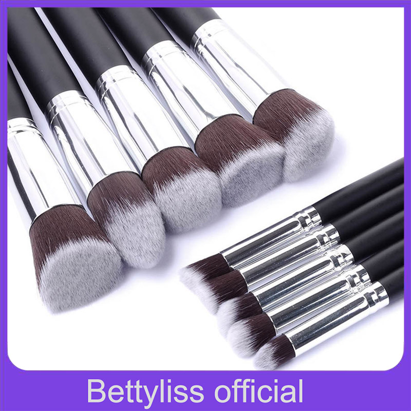 Bettyliss 10pcs Makeup Brushes set Professional Powder Foundation Eyeshadow Make Up Brushes Cosmetics Soft Synthetic Hair