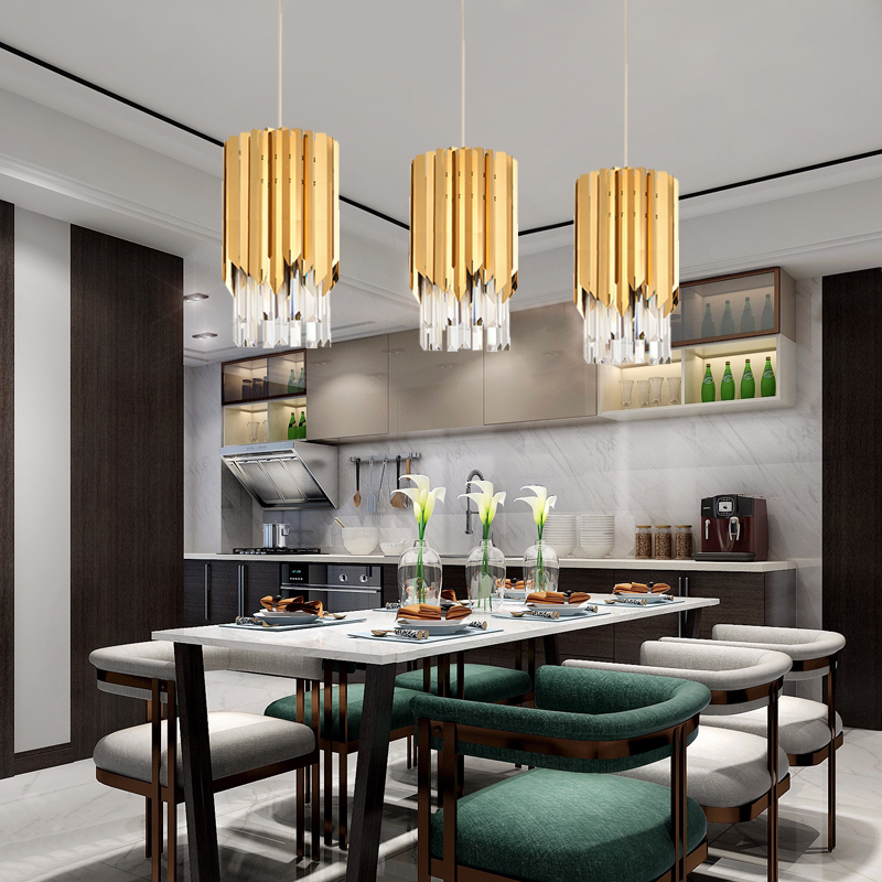 Small Chandeliers For Dining Room: Modern Small Round Gold Crystal Chandelier Lighting For