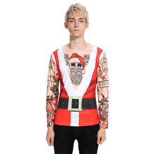 It's a new model of men's personality, Christmas dress, Santa Claus, long sleeve T-shirt, CT296