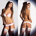 New Women Ladies Sexy Naughty Nurse Costume Lingerie Cosplay Hen Fancy Dress Party Outfit Uniform Underwear Set Exotic Apparel