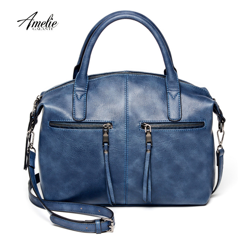 AMELIE GALANTI women bag brand new fashion with a pillow handbag high quality PU tote bag luxury handbags women bags designer new fashion indian fashion handbags female sweet lady styling with a gray lovely bear styling pu leather women bag luxury brand
