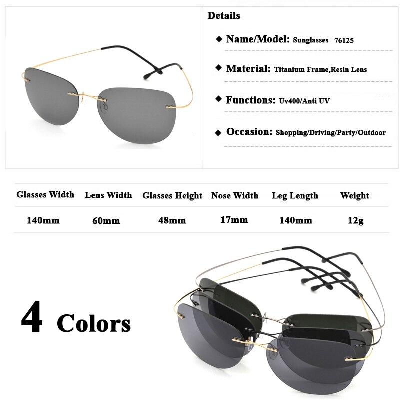 1aed4d538d Clearance Sale Item Titanium Alloy Rimless Polarized Sunglasses Ultralight  Super Light Men Mirror Designer Sun Glass Silhouett on Aliexpress.com