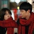 Nuevos hombres y mujeres amantes de diseño de estilo de Corea Del Sur de lana gruesa bufanda larga