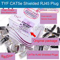 [RedStar] TYF RJ45 CAT5e (8p8c) blindado Conector RJ45 Plug Rede Tipo plug 5 plug Blindado 100 PÇS/LOTE Frete Grátis