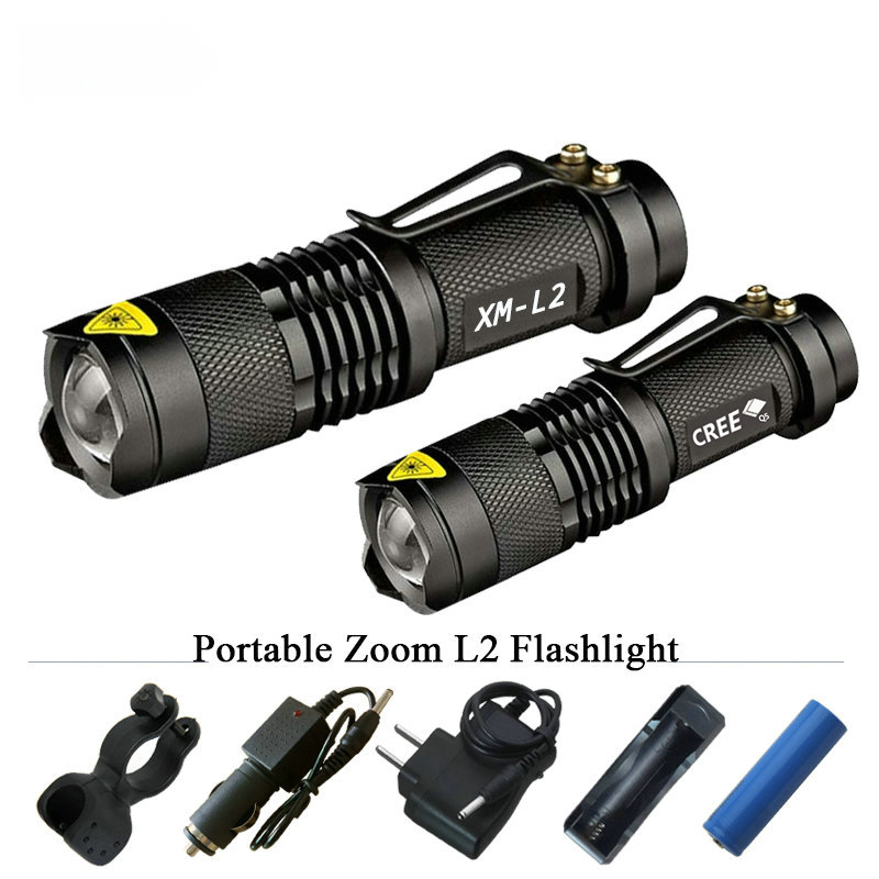 Portable Lighting Mini zoom flashlight led torch cree xml t6 l2 q5 waterproof lanterna charge light18650 or 14500 penlight Torch sitemap 46 xml