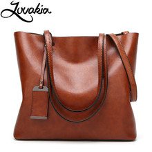 LOVAKIA new fashion women handbag artificial leather tote bag pink/black/blue/brown 7 colors crossbody