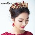 Luxury Princess Queen Crown European Baroque Large Hair Crown Wedding Headdress Wedding Hair Accessory