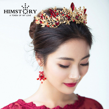 Luxury Princess Queen Crown European Baroque Large Hair Wedding Headdress Accessory