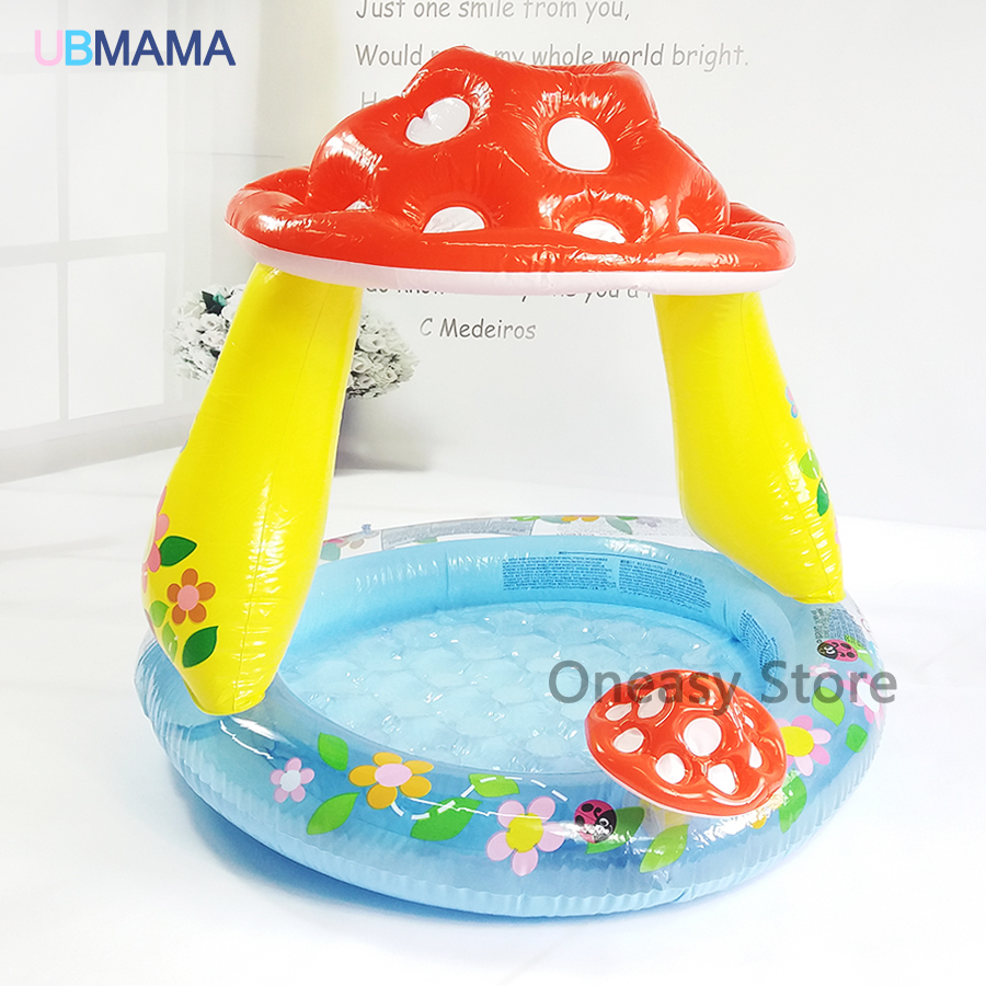 Mashroom Pattern Inflatable Swimming Water Pool Baby Children Zwembad Piscina Bebe Game Playground Outdoor Bathtub home use baby inflatable swimming water pool portable outdoor children bathtub piscina bebe zwembad pvc waterproof bath tub