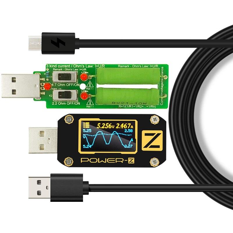 Testeur USB Type-c QC2.0/3.0/PD voltmètre Numérique amperimetro Numérique tension ampli actuel volts- z compteur puissance banque détecteur