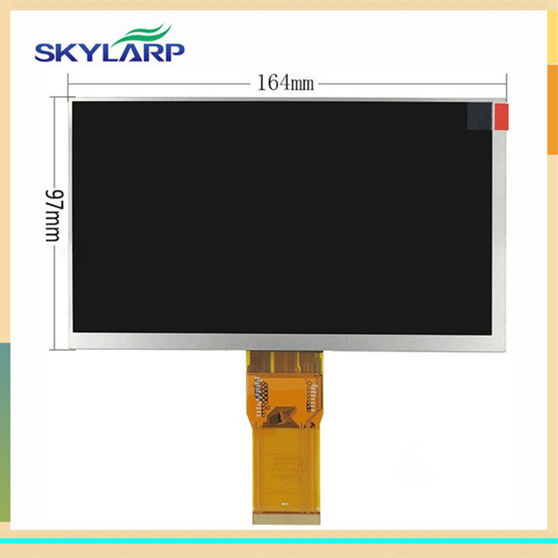 skylarpu 7 inch LCD screen for Digma optima 7.4 3g TT7024MG LCD Display panel for Matrix 163*97mm 50pin (without touch) 7 inch tablet digma optima 7 21 3g tt7021pg lcd display matrix 163 97mm 50pin 1026 600 lcd display screen panel freeshipping
