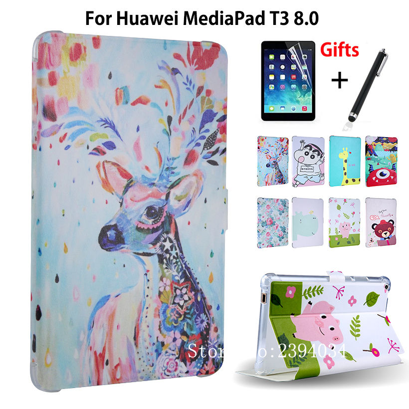 PU Leather Cover Case For Huawei MediaPad T3 8.0