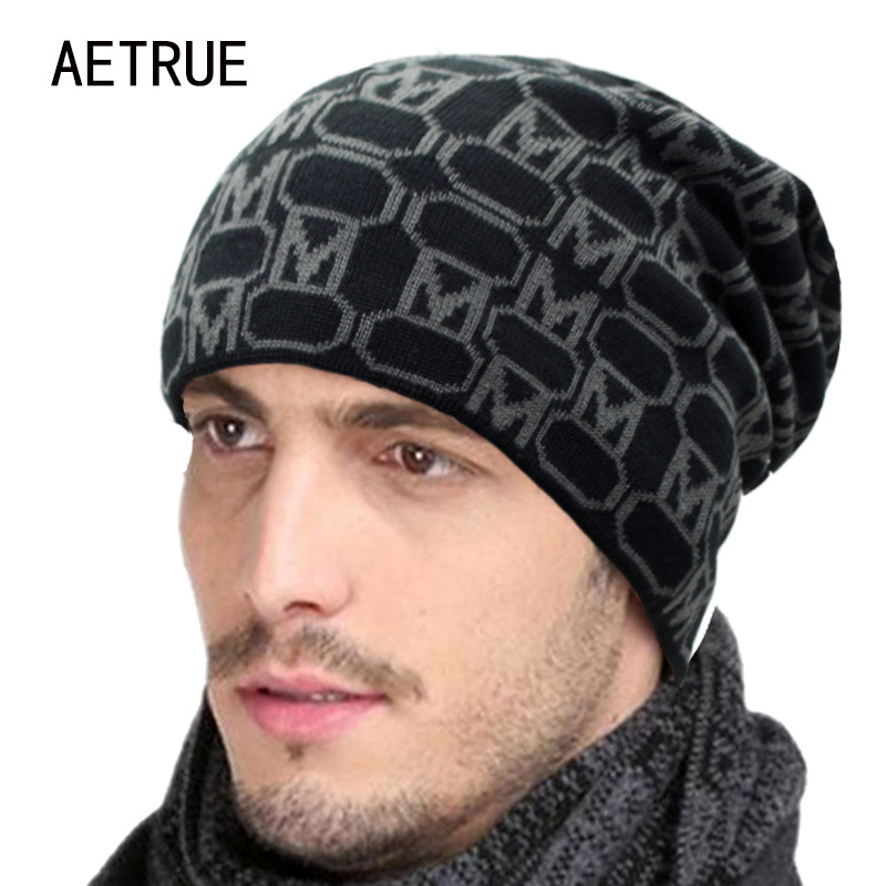 Winter Beanies Men's Winter Hats For Men Women Knitted Hat Caps Skullies Beaine Bonnet Brand Mask Casual Cap Warm Baggy Hat 2017 aetrue beanies knitted hat men winter hats for men women fashion skullies beaines bonnet brand mask casual soft knit caps hat