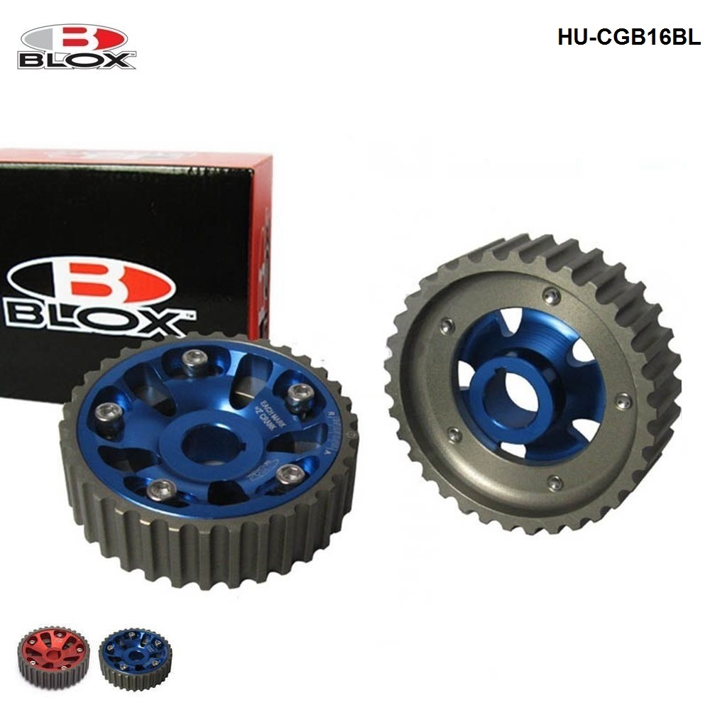 2Pcs For <font><b>Honda</b></font> <font><b>Civic</b></font> <font><b>B16A</b></font> B18C Adjustable Cam Gear Timing Gear pulley For B-Series Inlet & Exhaust HU-CGB16 image