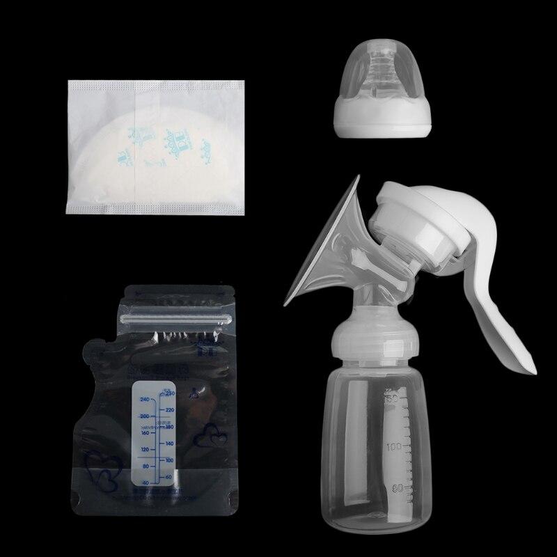 BPA Free Manual Breast Pump Nipple Suction Massage Breastpump Milk Bottle Fr Baby Nursing