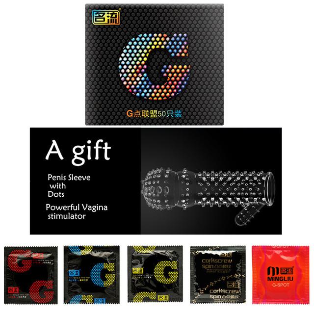 Condoms 50 Pieces Super Quality Lubriaction G Spot Dots Condoms for Men Sex Toys for Adults 5 Types Masturbators for Men Sex