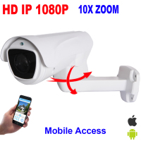 CCTV Security HD IP 1080P Pan Tilt Bullet PTZ Camera 2MP 4X Optical 10X Zoom Auto