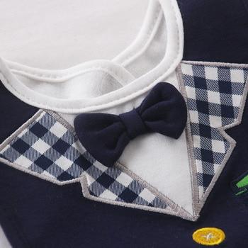 Wet Wipes Removable Baby Bibs Waterproof Babys Tuedo Kids Dinner Feeding Bib Saliva Towel Child Red Bow Tie 3