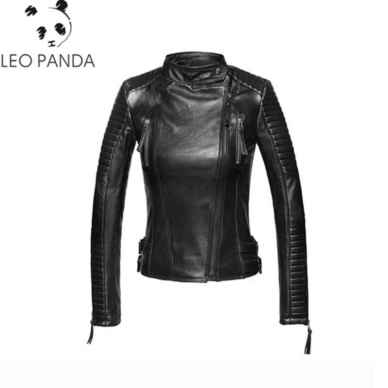 Taille Mince Veste Manteau Oblique 100 Mode 2018 Casaco Fermeture En Femmes Feminino Parka violet Gules D'hiver Mouton Cuir black Éclair De Plus Peau La À fCzFzqO
