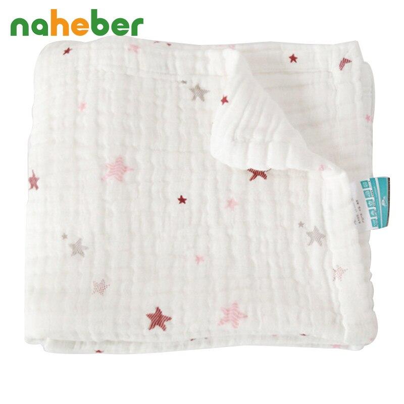4 Layers Baby Muslin <font><b>Swaddles</b></font> Blanket Envelope for Newborns 100*120cm Cotton Gauze Infant Linens Hold Wraps