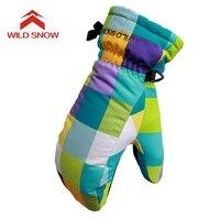 2017 החדש WILD שלג של ילד כפפה סקי סנובורד כפפות עמיד למים כפפות חורף הילדים בנות עמיד למים כפפה סקי