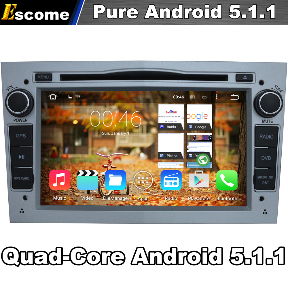 Pure Android 5 1 Car DVD Gray Color For Opel Astra 2004 2009 Antara 2006 2011