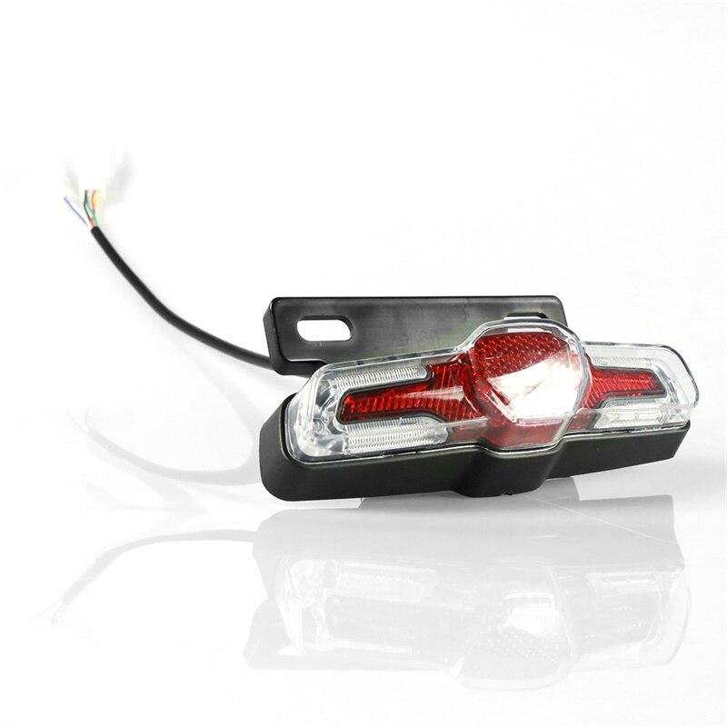 36V Electric Bicycle Bike Brake Light Cycling 4 LED Warning Tail Light Rear Lamp