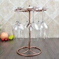 High Quality 6 Wine Glass Rack Stemware Wine Racks Wine Decoration Kitchen Table Supplies Holders