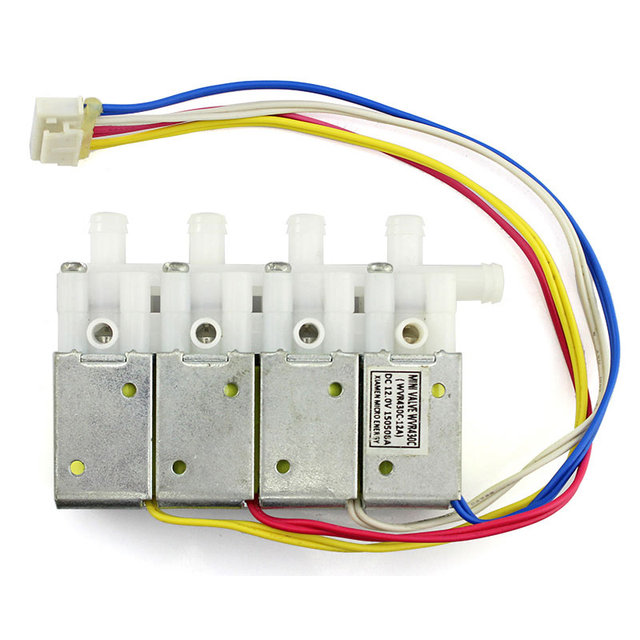 US $16 22 22% OFF Elecrow High Quality Air Value Hottest DC12V Four Way  Valve Independent Control Solenoid Valves for Automatic Smart Watering  Kit-in