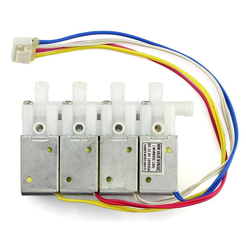 Elecrow de aire de alta calidad valor más DC12V cuatro válvula independiente solenoide de Control de válvulas para inteligente automático de riego Kit