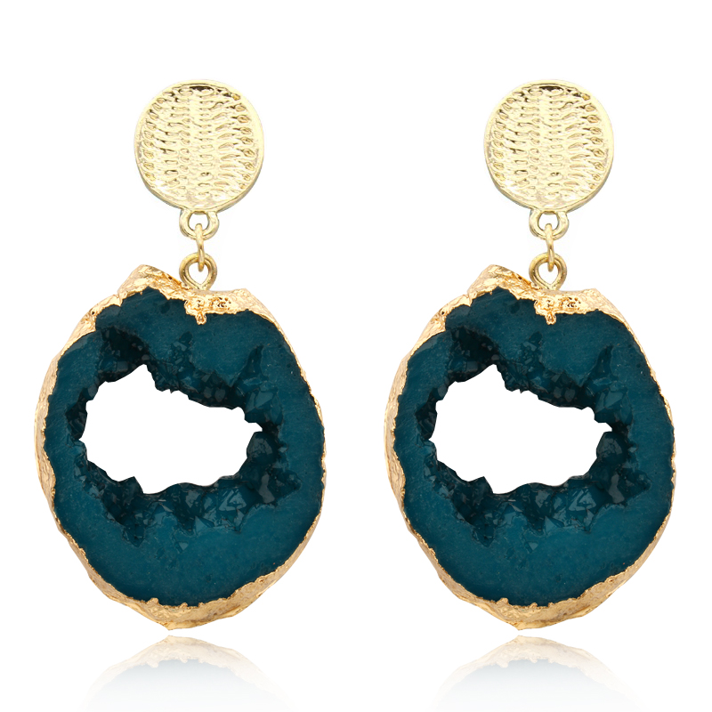 Dayoff Europe Boho Resin Earrings Women Jewelry