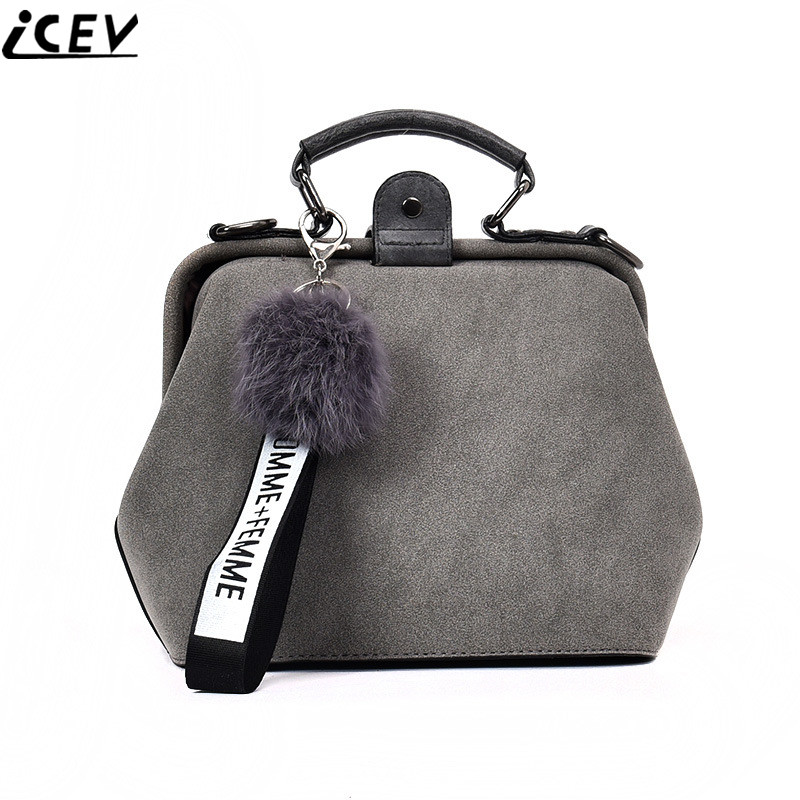 ICEV brand 2018 new retro matte leather women messenger bags small shoulder bag ladies clutch designer crossbody solid flap sac lacattura luxury handbag chain shoulder bags small clutch designer women leather crossbody bag girls messenger retro saddle bag
