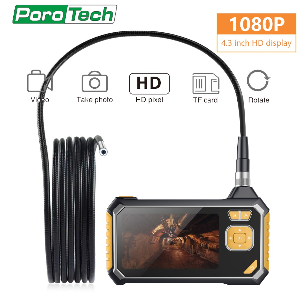 im113 <font><b>4.3</b></font> <font><b>Inch</b></font> <font><b>LCD</b></font> Color Screen monitor with 1M cable Handheld Endoscope Industrial Home 8mm Endoscopes Car Inspection Borescope image