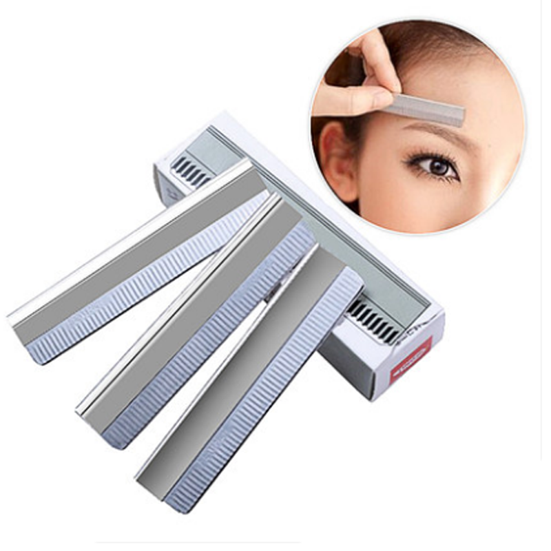 Permanent Makeup Stainless Steel Microblading EYEBROW RAZOR Pack of 100 white tattoo supplies for eyebrow tattoo