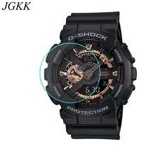 JGKK 2PCS 2.5D Tempered Glass For Casio GA100 GA11010 Screen Protector G-shock Watch Protective Film Transparent