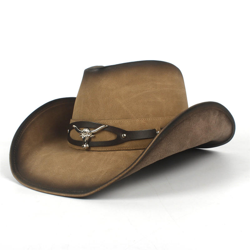 Western Leather Cowboy Hats for Women & Men 3
