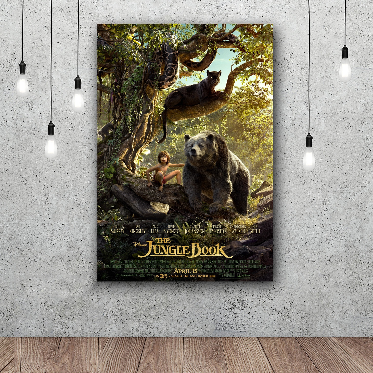 The Jungle Book Movie Art Silk poster Home Decor 12x18 24x36inch