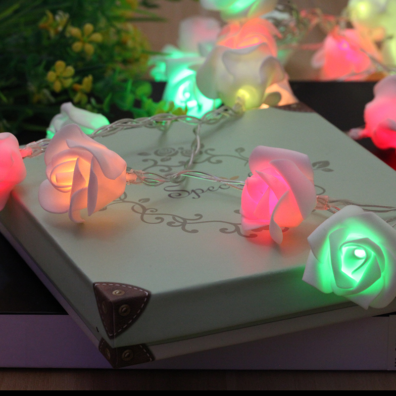 BLYN Rome Decoration LED Light String Rose Romantic Night Lamp Battery Powered Multicolor Warm White 10M 5M Christmas Holiday