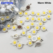 Lâmpada led de alta potência, 10 peças, w cree 1w 3w, lâmpada diodo emissor de luz smd 110-120lm leds chip luz para baixo 3w-18w
