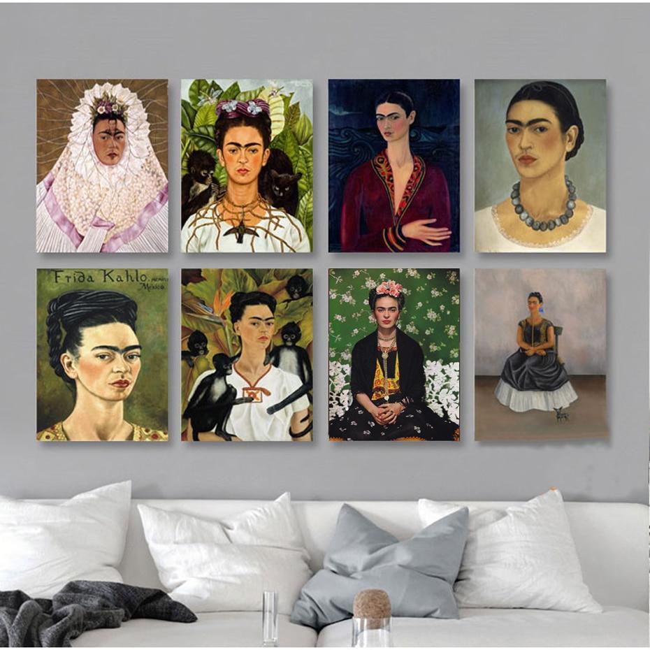 Klassische Frida Kahlo Figur Leinwand-malerei Berühmte Poster Druckt ...